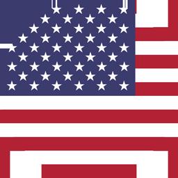united states of america flag round icon 256 1