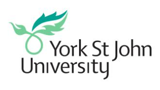 York St. John University Logo